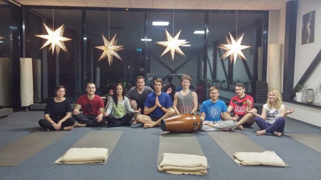 Gonzalo from Hostinger Argentina joined us for yoga session