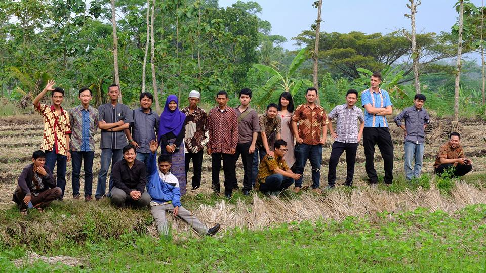 Hostinger Indonesia in the fields around Yogyakarta
