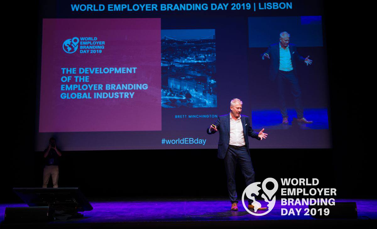 Brett Minchington - one of the world's leading authorities on employer branding during his presentation.