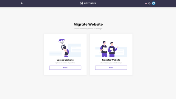 Hostinger Website Migration