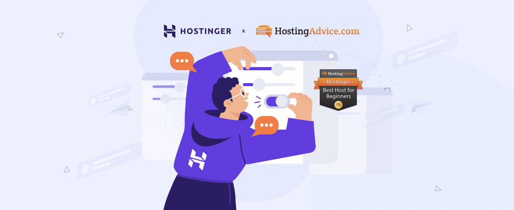 Hostinger is Recommended as the Top Pick for Web Beginners by HostingAdvice Experts