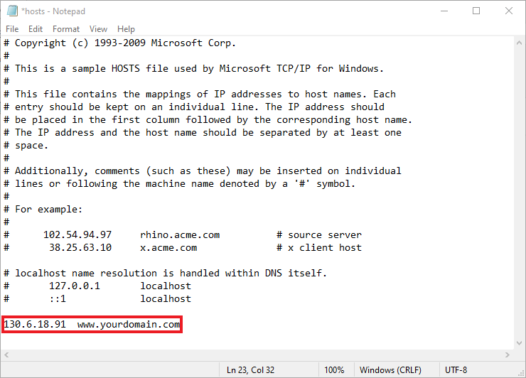 This picture shows how to edit hosts file in Windows 10