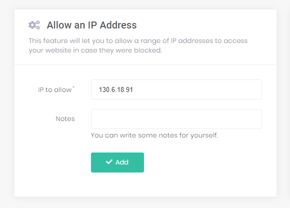 Create and add an IP address on hPanel.