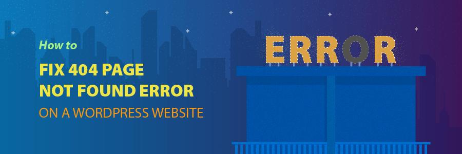 How to fix a 404 error in wordpress
