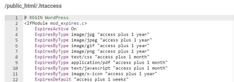 editing htaccess file via hPanel