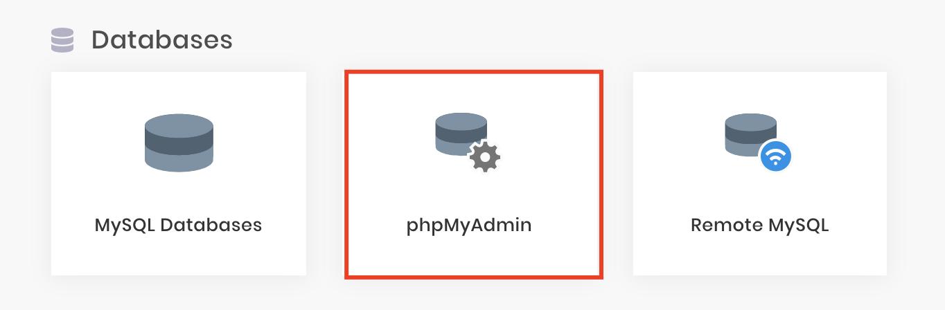 phpMyAdmin in Hostinger to check your database status