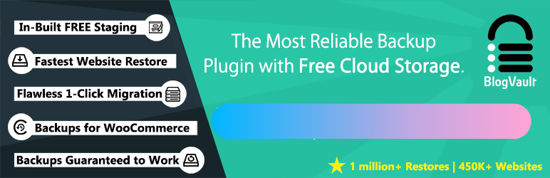 """BlogVault Migration plugin - """"The Most Reliable Backup Plugin with Free Could Storage"""""""