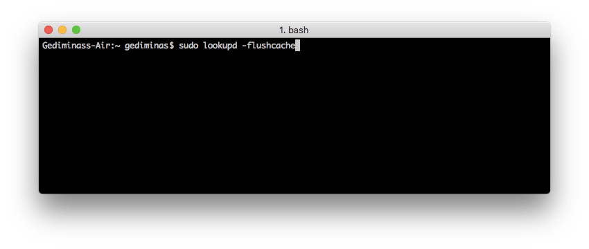 Flush DNS on Mac OS X Leopard or lower using Terminal