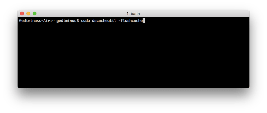 Flush DNS on Mac OS X Snow Leopard using Terminal