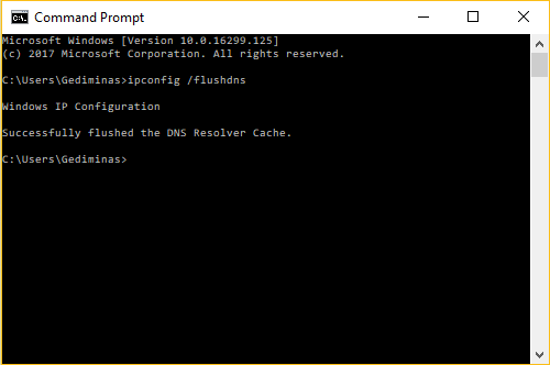 Successful Flush DNS on Windows