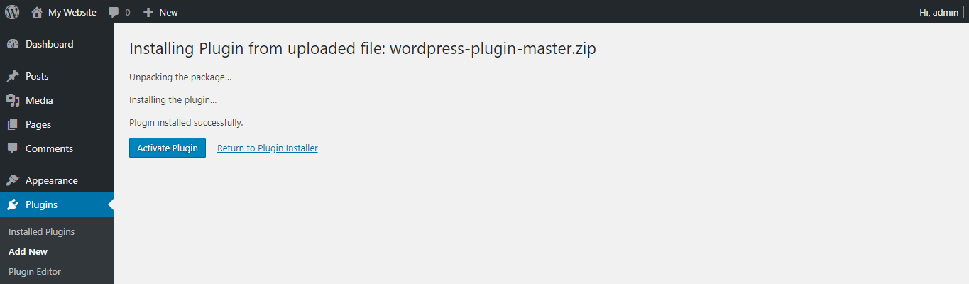 This image shows you how to activate the newly installed plugins in WordPress