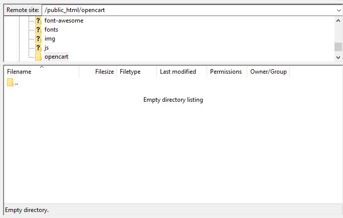 Screenshot showing how to access public_html folder