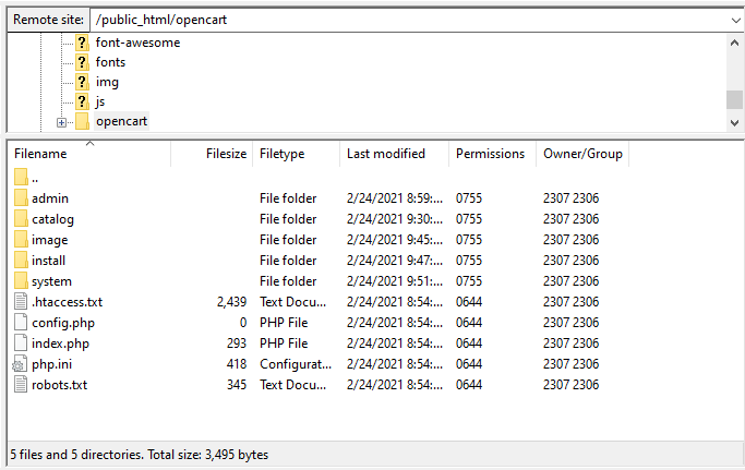 Screenshot showing how to drag and drop files into Empty Directory Listing