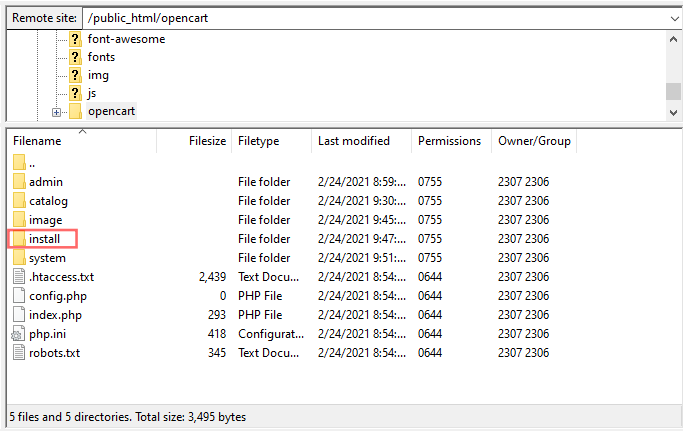 Screenshot showing how to install filezilla
