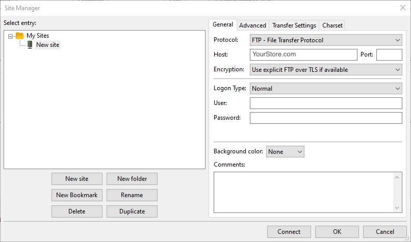Screenshot showing how to upload files via FTP client