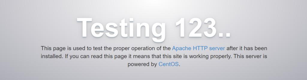 Apache testing page