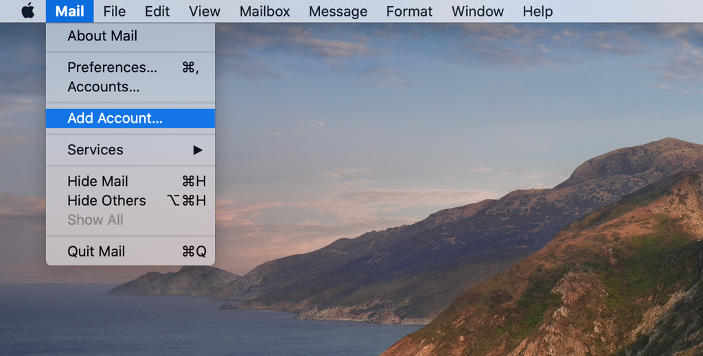 Opening the Mac Mail app.