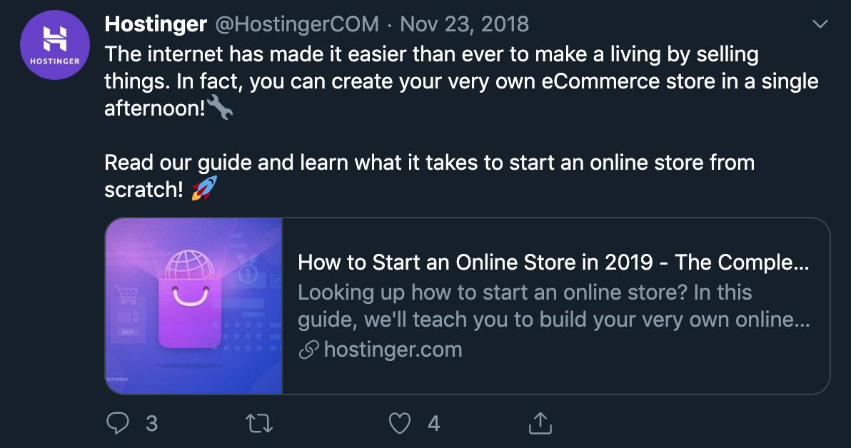 Hostinger Tutorials Example Twitter Summary Card