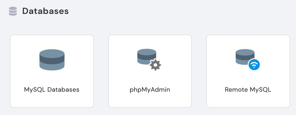 hpanel databases