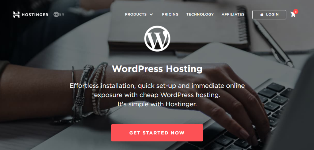 Hostinger WordPress Hosting Page