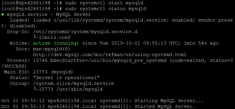 How to check if MySQL is active