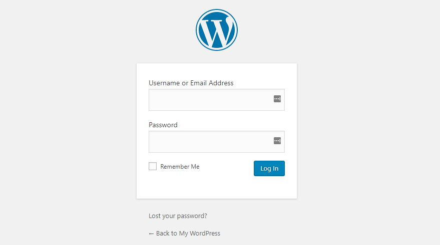 This image shows your WordPress Admin Login Page