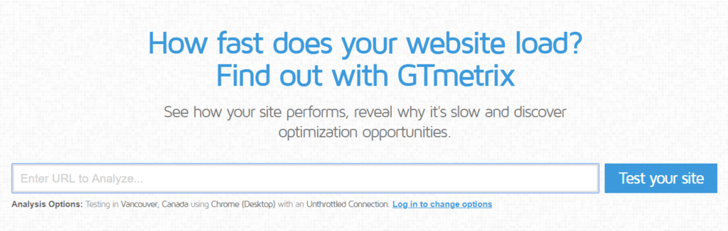 Analyzing the Website Using GTMetrix