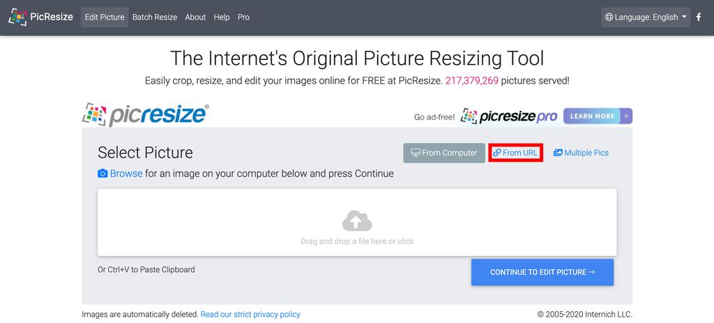 PicResize Resizing Tool