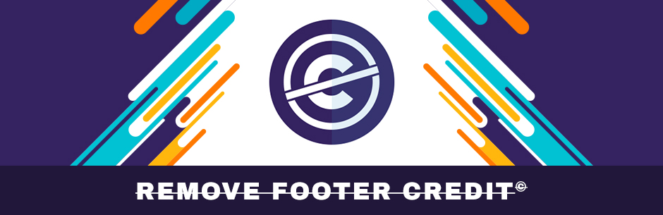 This is the Remove Footer Credit plugin logo.