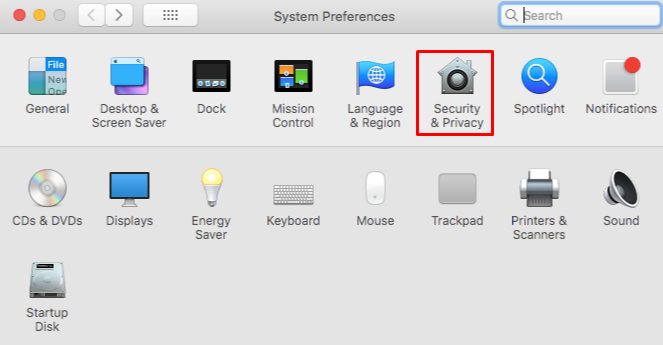 this image shows you the system preferences settings on MacOs