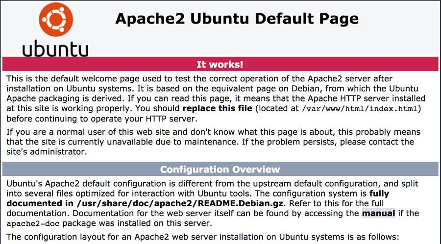 Default Apache2 Page