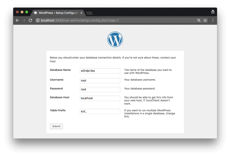 Installing WordPress locally via MAMP