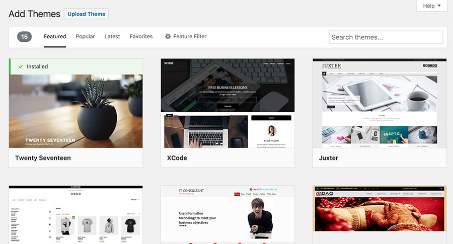Intall WordPress Themes