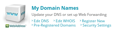 network solutions my domain names