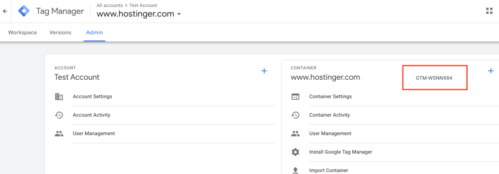 Code for Google tag manager and wordpress