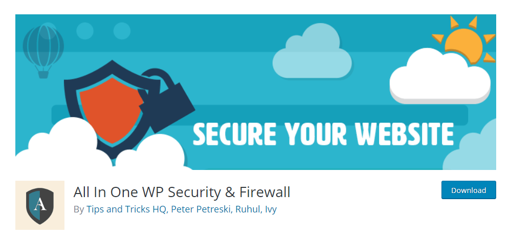 All In One WP Security & Firewall plugin.