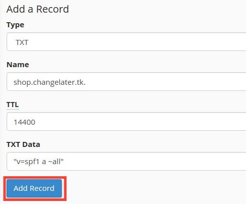 TXT record
