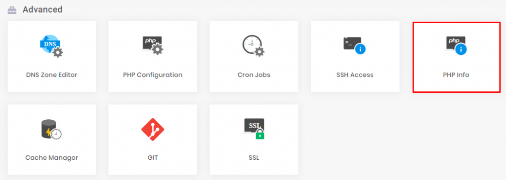Using the PHP Info feature in hPanel