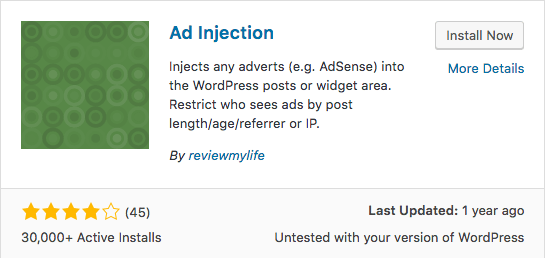 Add Injection WordPress Plugin