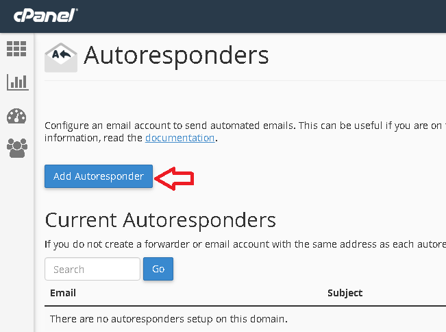 Add Autoresponder button.