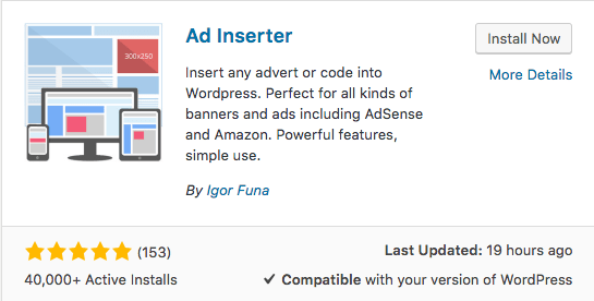 Add Inserted WordPress Plugin
