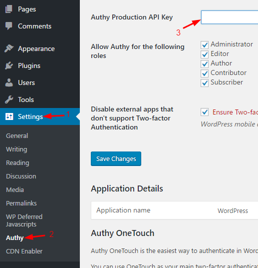 Authy-settings