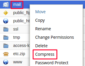 compressing mail directory