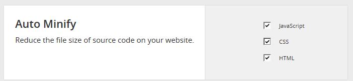 CloudFlare Auto Minify.