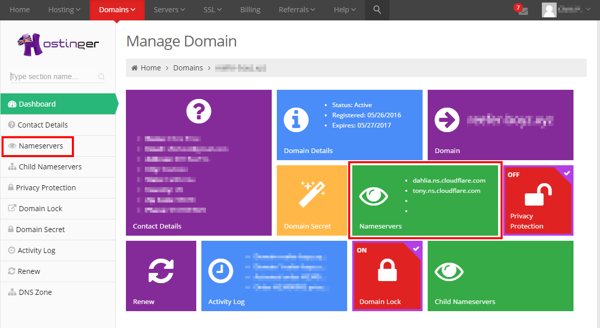 How to Change Domain Nameservers point domain to new hosting