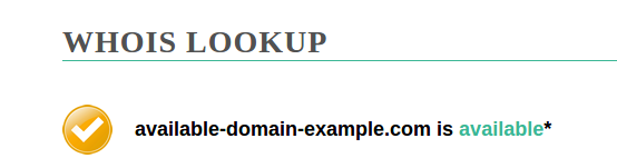 Domain available