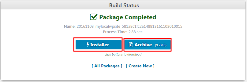 downloading duplicator package