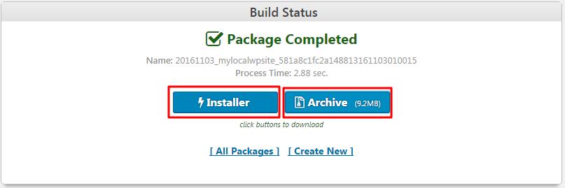 downloading duplicator package