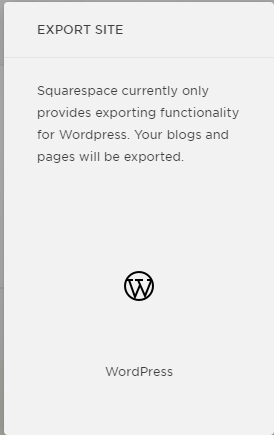 Exporting Squarespace to WordPress platform