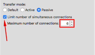 FileZilla Limit number of simultaneous connections